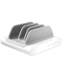 White Vert Charging Station for smartphones, tablets and portable gaming systems